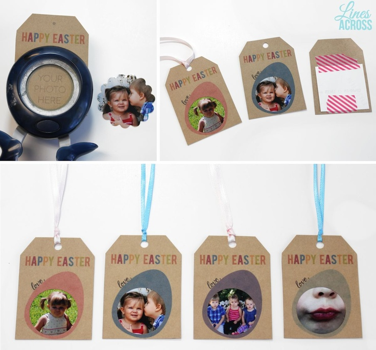 Free printable photo gift tags for Easter. A perfect use for those cute Instagram photos. #Easter
