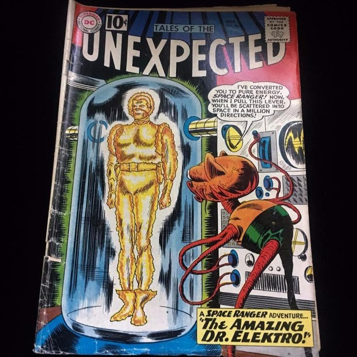 DC Comics Oct 1961 #66 Tales of The Unexpected The Amazing Dr Elektro