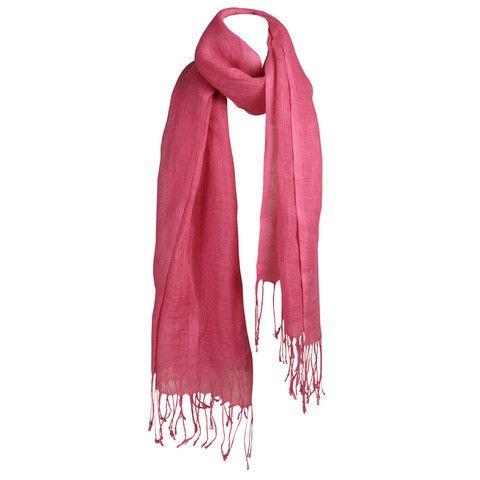 Raspberry pink 100% linen scarf £32. (130x170cm)