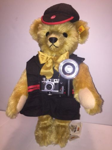 STEIFF LEICA IIIf MINOX CAMERA PROMO REPORTER BEAR PHOTOGRAPHERS VEST GROWLER