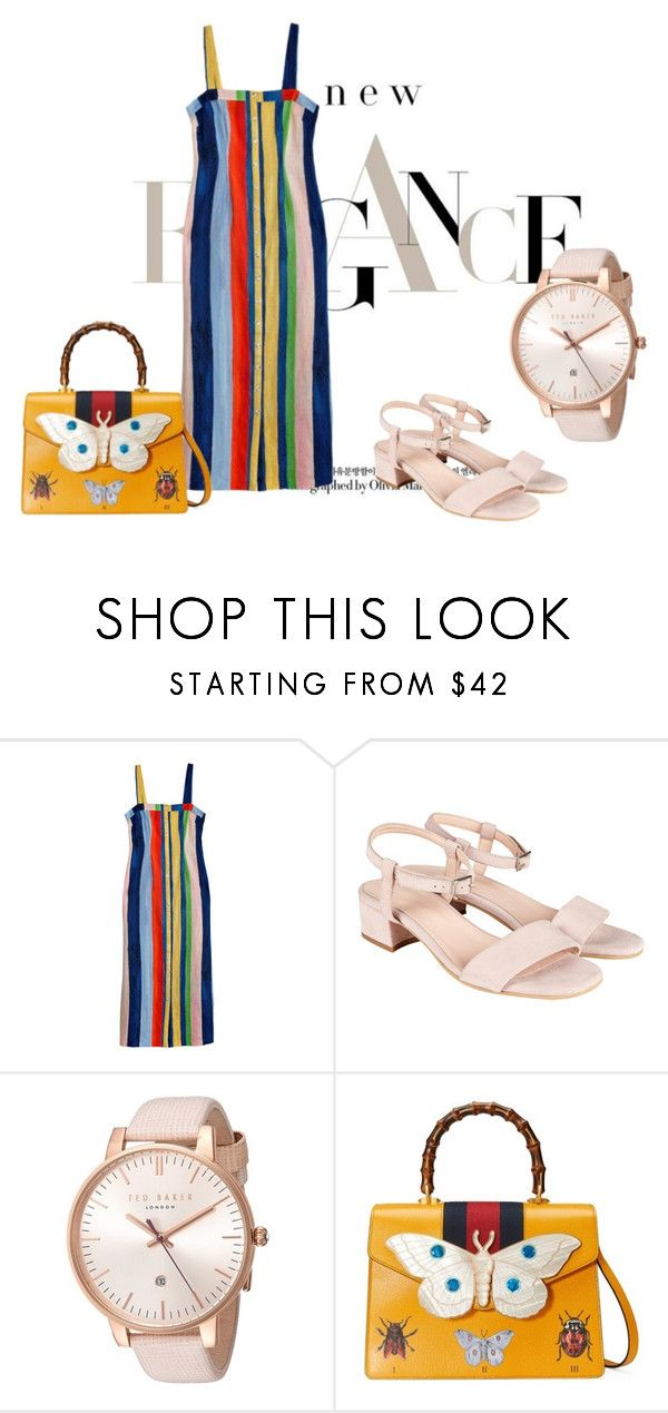 """""""Rainbow Butterfly"""" by dvorska-michaela on Polyvore featuring MARA, Ted Baker, Gucci, romantic and forwomen"""