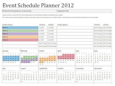 25+ melhores ideias de Event calendar template no Pinterest - event schedule template