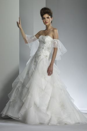 Wedding Dresses Style 9203 sleeves are removable,  bead work is outstanding!  Sleeves can easily be made!