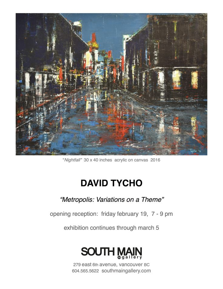 "Invitation to ""Metropolis"" exhibition."