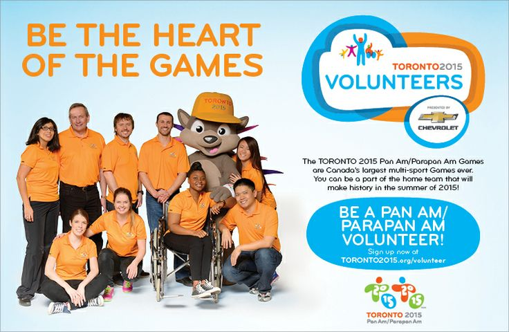 It's finally here! We are thrilled to announce that the TORONTO 2015 Volunteer Program, presented by Chevrolet, is officially accepting applications for Games-time volunteer roles!  To APPLY NOW or for more information please visit the #TO2015 website: bit.ly/1irgoBP