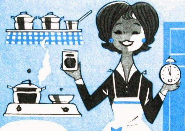 Cute vintage cooking illustration, 1963