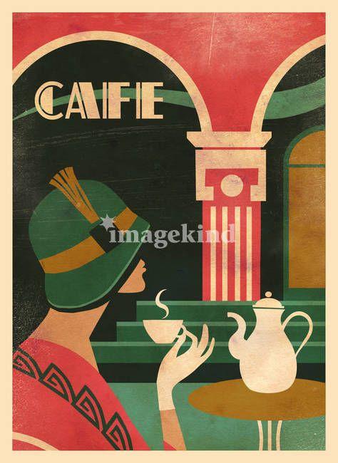 Coffee shop Art Deco Graphic Design