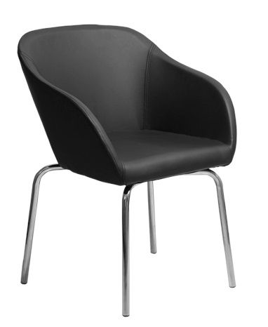 The Gamma Visitor Chair features a Simple one piece comfortable moulded Back Shell seated.com.au #seated #officechair #guest #chair