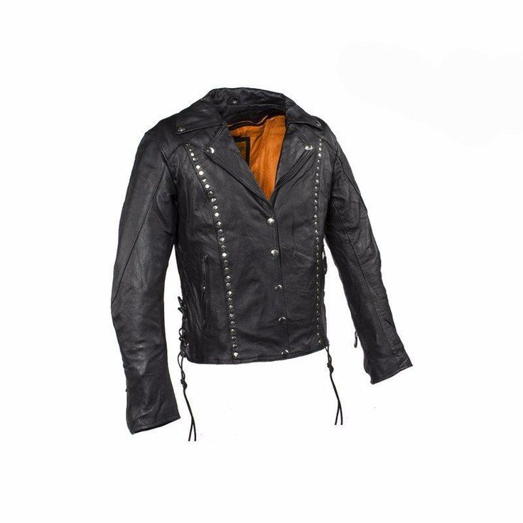 Studded Leather Concealed Carry Jacket for Women