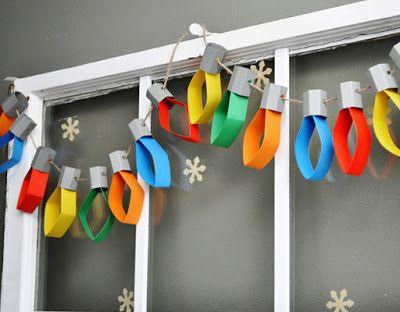 НАША СТРАНА МАСТЕРОВ: Симпатичная новогодняя гирлянда из обычного цветно...