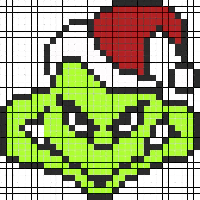 The Grinch Perler bead pattern