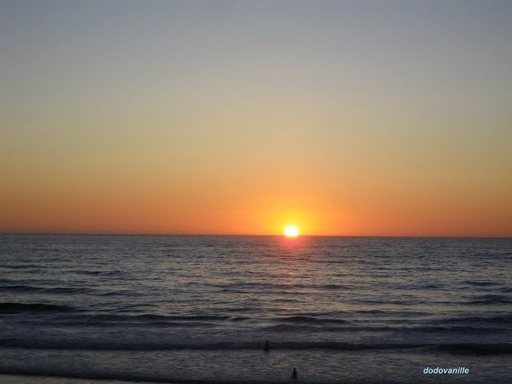 Maroc, coucher de soleil à Skhirat