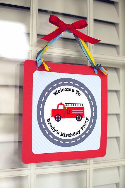 accueil porte anniversaire pompier