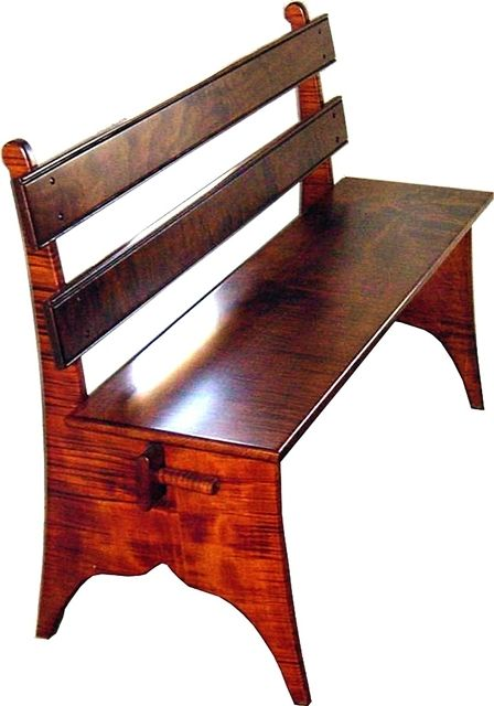 Charles Neil Woodworking   Benches   Five Board Bench