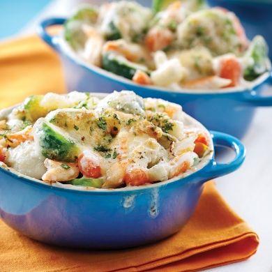 Gratin de légumes au crabe - Recettes - Cuisine et nutrition - Pratico Pratique