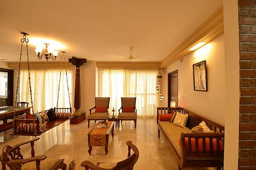 A Chettinad Style Apartment In Bangalore Livingroomdecor Indianhomes