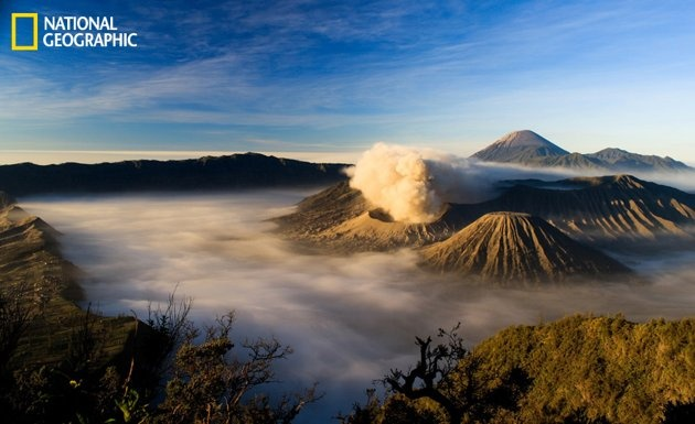Mount Bromo, one of beautiful mountains in Indonesia