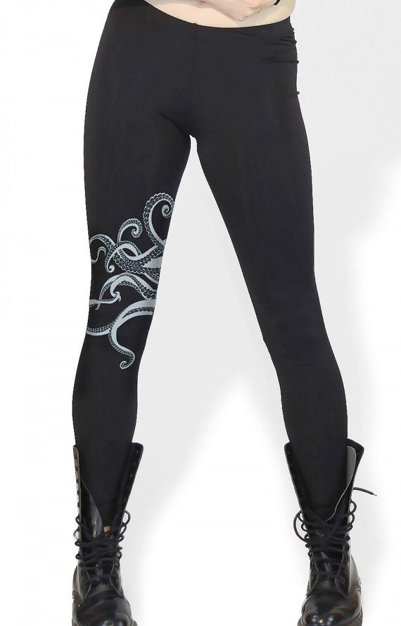 Octopus tentacles leggings Octopus print by banyantreeclothing, $30.00