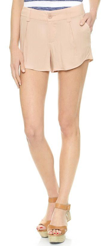ALICE + OLIVIA nude shorts found at Nudevotion.com