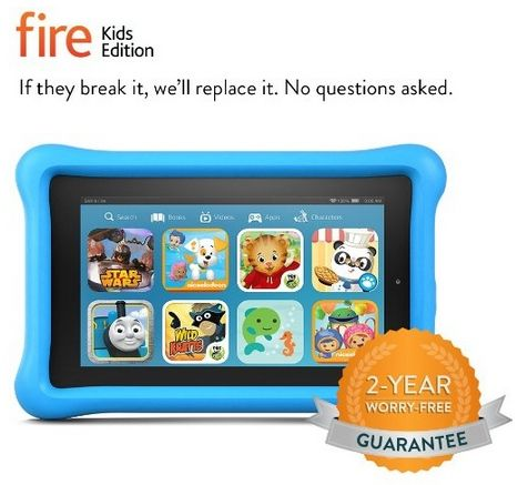 Kindle Fire Kids Edition w/ Kid-Proof Case $84.99 Break It, And They Replace It - No Questions Asked! - http://www.swaggrabber.com/?p=284780