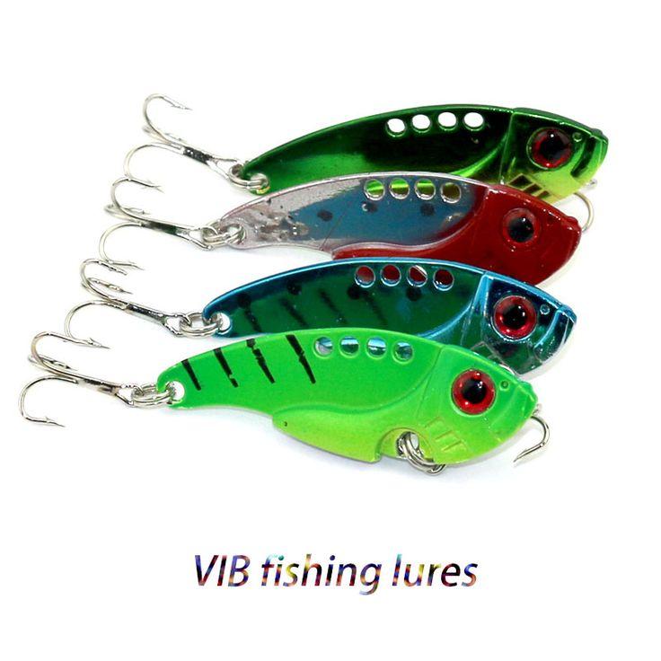 50pcs 5.5cm 11g 8#hooks Metal VIB Fishing lures Spoon Lures pike bass trout fishing baits peche isca de pesca fishing tackles
