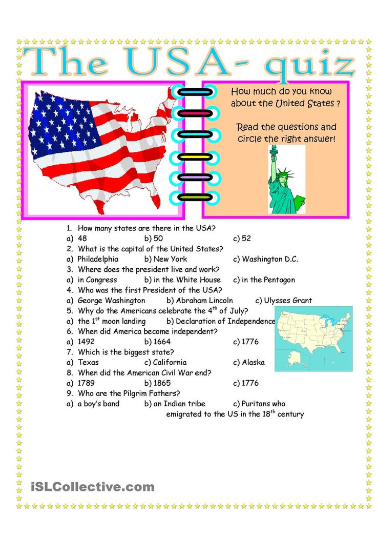 The USA- Quiz