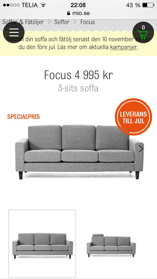 Snygg soffa Mio
