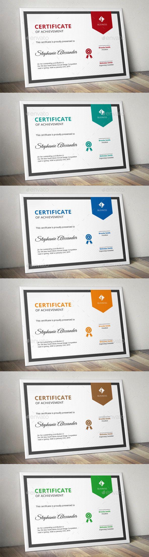 Banner Corporate Certificate Template AI Illustrator                                                                                                                                                                                 Más