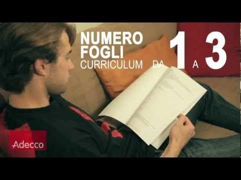 Video pillola n.1 di Adecco - Il curriculum perfetto: tutti i trucchi #video #lavoro
