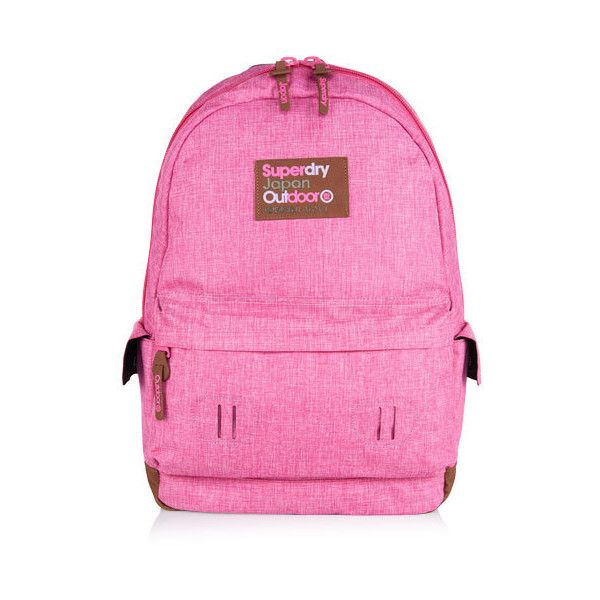 Superdry Contrast Montana Rucksack (180 RON) ❤ liked on Polyvore featuring bags, backpacks, pink, backpack bags, strap backpack, zip bag, rucksack bag and padded backpack
