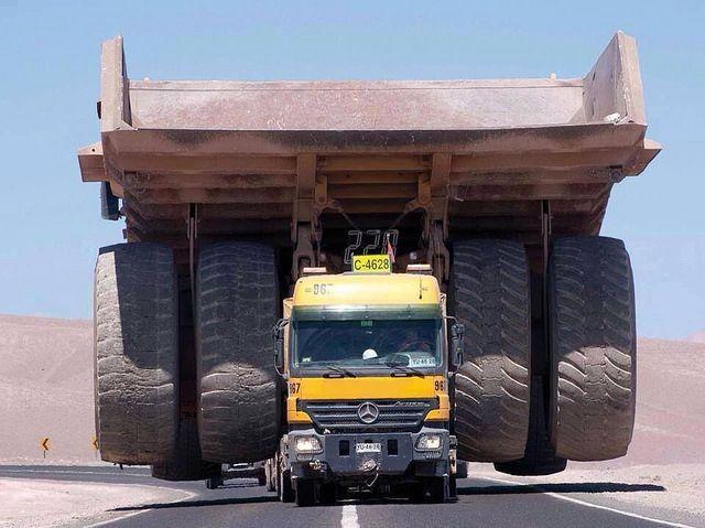 Ciencia e ingenieria globales.: ¿Cómo de grande es un camión minero?