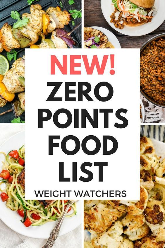 New Weight Watchers® Zero Points Food List – Freestyle Plan