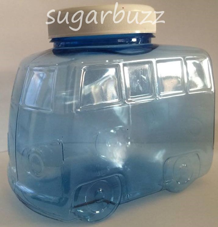 Quirky Camper Shaped  Empty Plastic Sweet Jar X5   Event  Sweetie  Party Favour