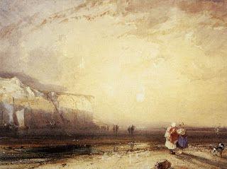 Richard Parkes Bonington - Sunset in the Pays de Caux (1828)