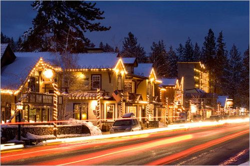 Tahoe City as a winter wonderland