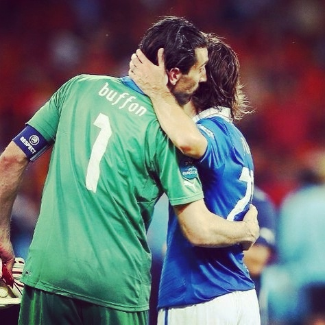 Buffon and Pirlo.  Legends
