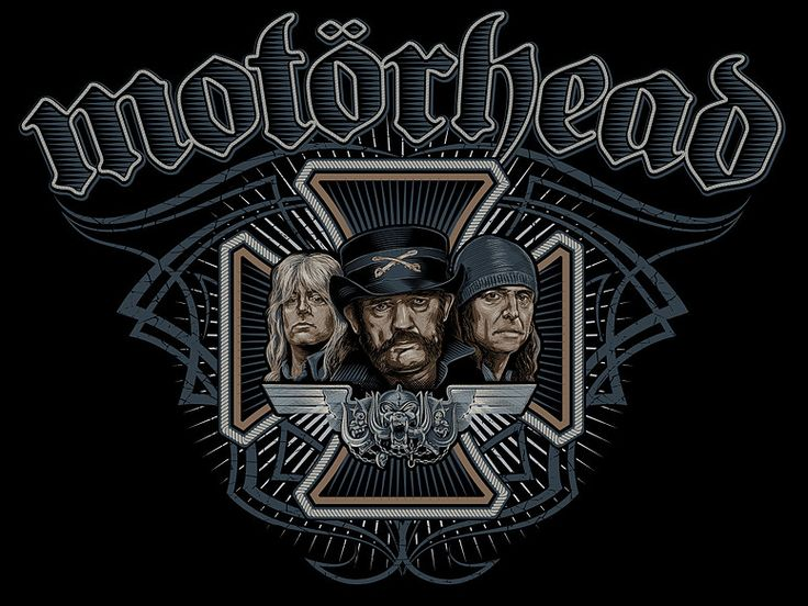 «MOTORHEAD» Vector illustration. Artwork series of Kings of rock. Illustration of the print for t-shirts. Not a commercial project. The work is done in programs Adobe Illustrator.