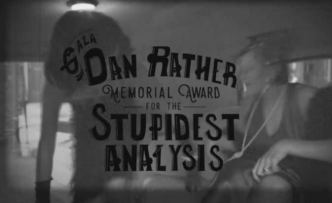 (Screen Capture)NBC's Brian Williams won the Dan Rather Memorial Award for the Stupidest Analysis at the Media Research Center's 30th Anniversary Gala last night in Washington, D.C.