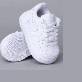 Baby white nike shoe from ILoveCuteShoes.com