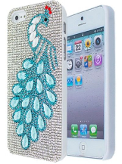 HardCover for Apple iPhone 5/5S with Elements Peacock Blue