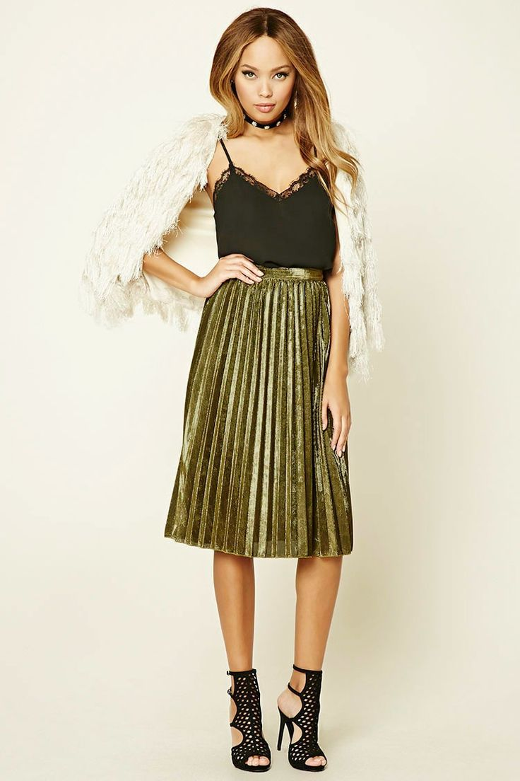 17 best ideas about metallic pleated skirt on