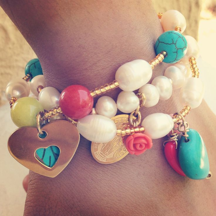 Pearl bracelets by Luz Marina Valero