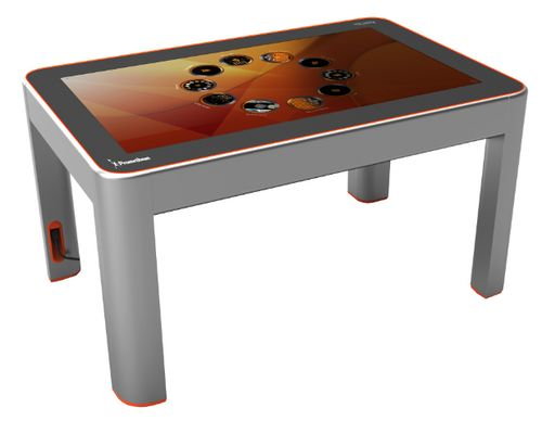 promethean touch screen table- this is what I got to experience today on the Promethean bus- coolest thing EVER!