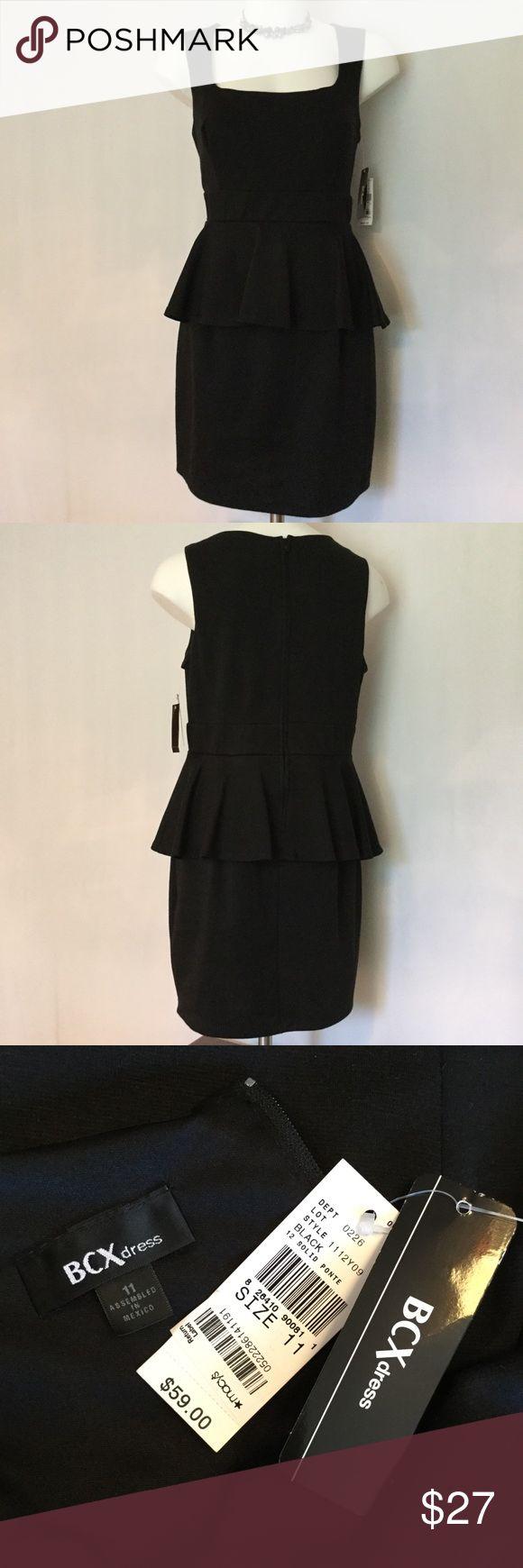 BCX Little Black Peplum Dress BCX Little Black Dress, sleeveless with an adorable peplum waist! Brand New with Tags! BCX Dresses