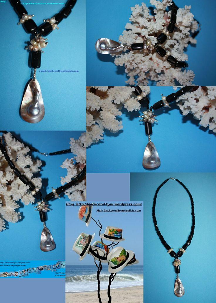 @BlackCoral4you Black Coral-Pearl-Sterling Silver / Coral Negro-Perla-Plata 925 http://blackcoral4you.wordpress.com/