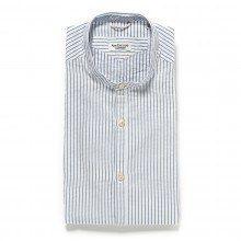 【SALE】【30%OFF】 [ニューイングランド] New England ストライプスタンドカラーシャツ イタリア製