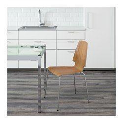 IKEA - VILMAR, Stol, Den klarlakkerte overflate er enkel å rengjøre.Du kan stable stolene, slik at de tar opp mindre plass når de ikke brukes.