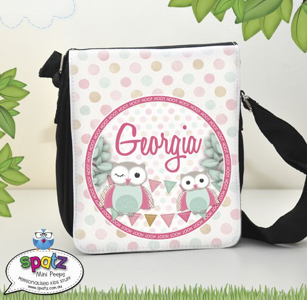 Personalised kids messenger shoulder bags personalised kids bags tags cases books labels school stuff stuff for kids