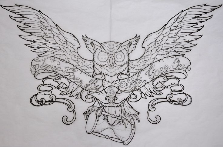 Owls Tattoo Drawings Images & Pictures - Becuo