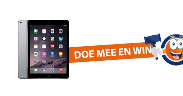 Doe mee en win een Apple iPad Air 2 32GB t.w.v. €409,-, aangeboden door Blije Veiling.